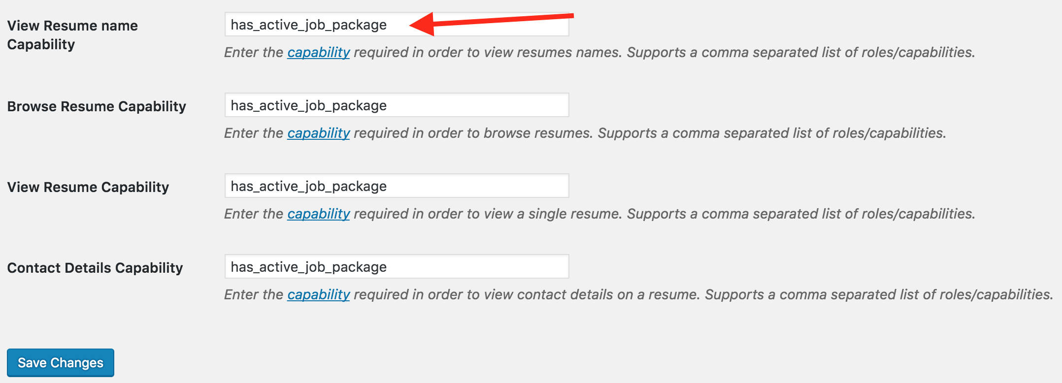 tutorial require an active job package to view resumes wp job