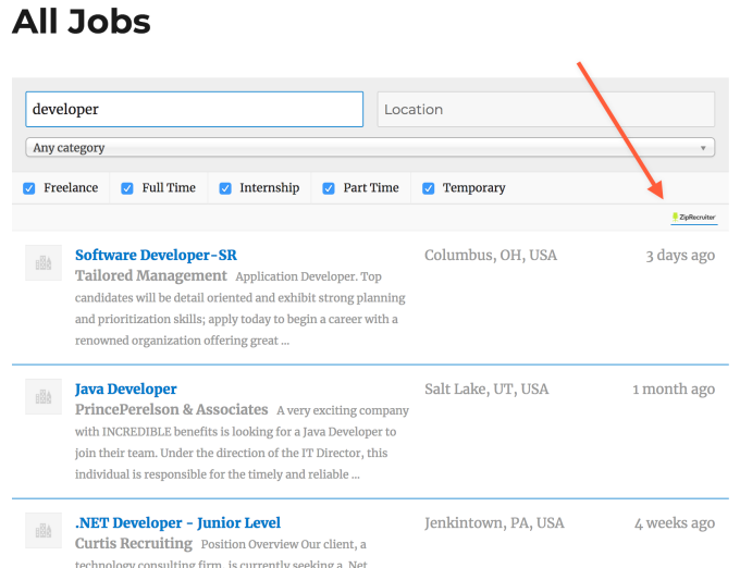 Ziprecruiter Resume Database ziprecruiter resume database and job listing mining to the industry standard skills Any Jobs Shown In Such A Way Will Link Out Via Ziprecruiter To The Source Job Posting Page Where The User Can Read More Details About The Position And